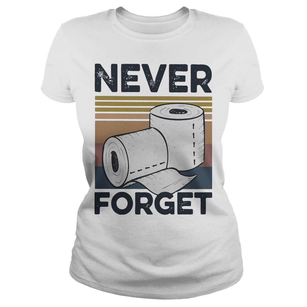Vintage Toilet Paper Never Forget Longsleeve