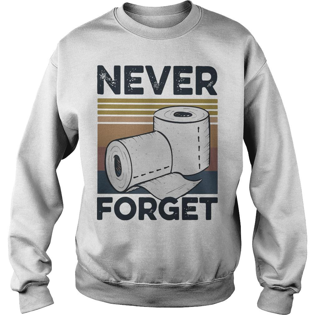 Vintage Toilet Paper Never Forget Sweater