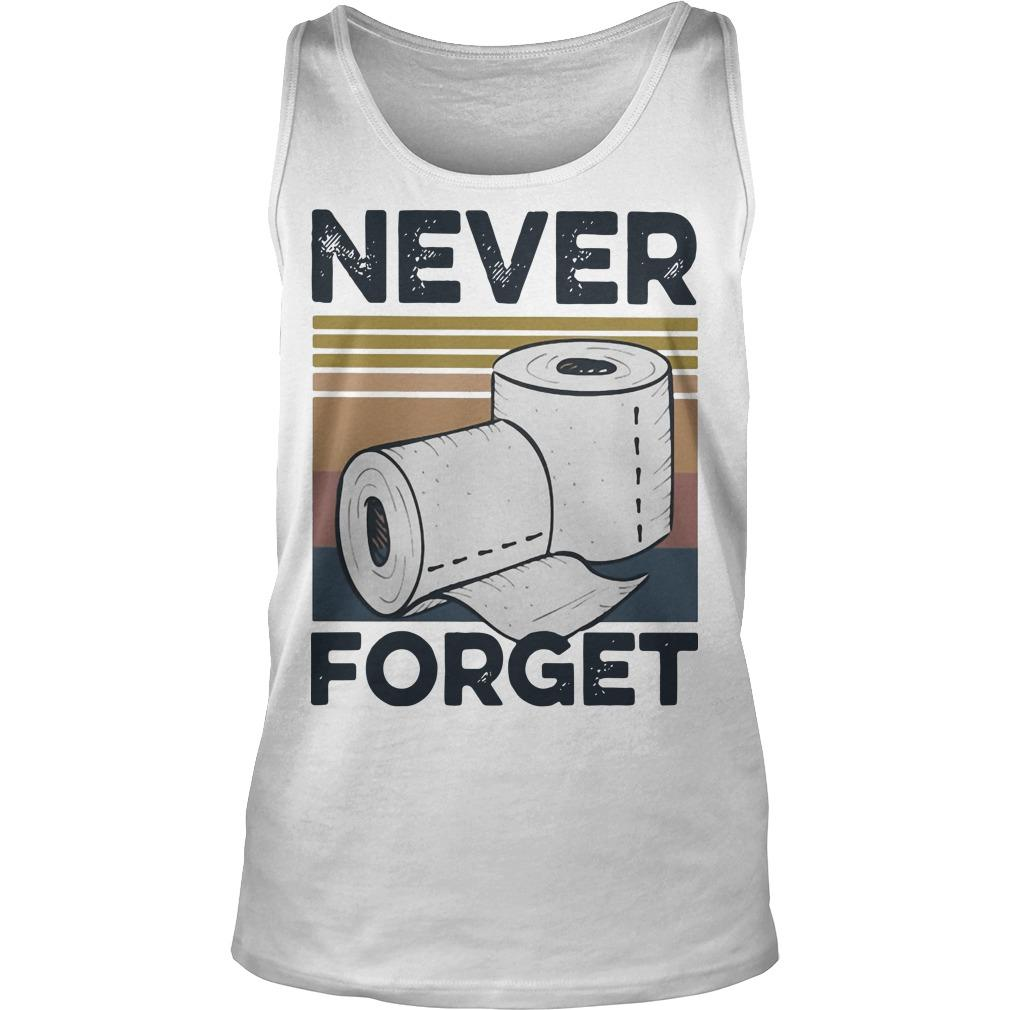 Vintage Toilet Paper Never Forget Tank Top
