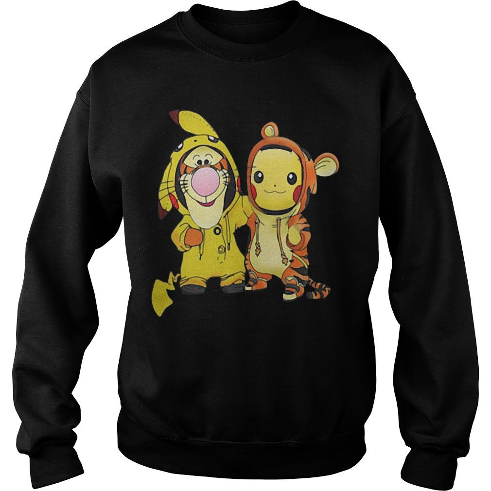 Baby Tigger And Pikachu Sweater