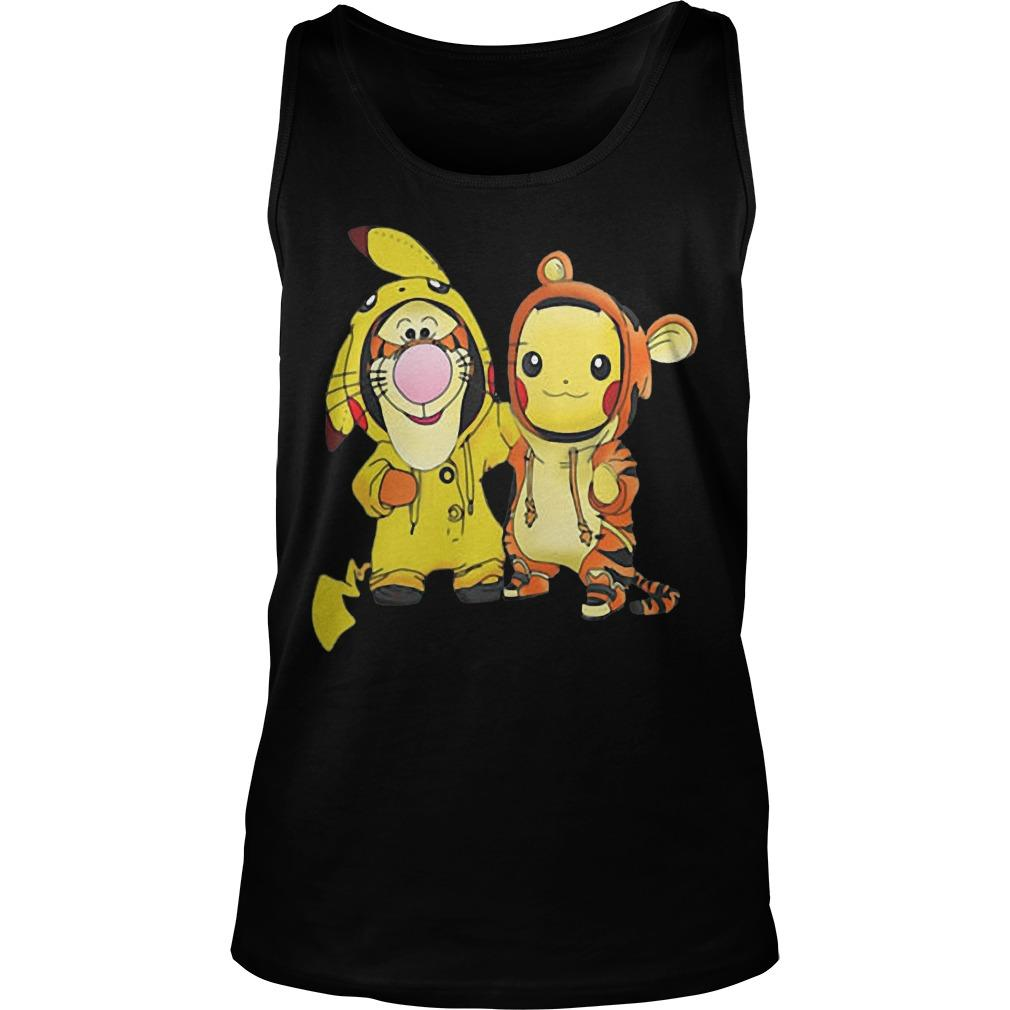 Baby Tigger And Pikachu Tank Top
