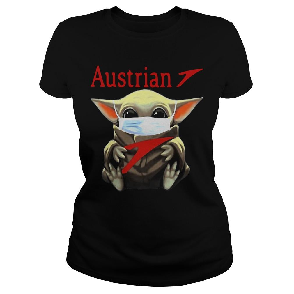 Baby Yoda Mask Hugging Austrian Longsleeve