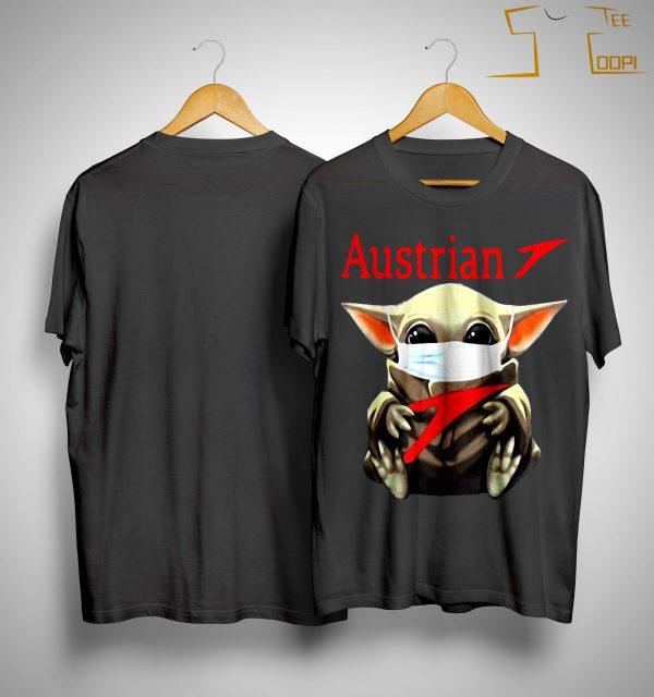 Baby Yoda Mask Hugging Austrian Shirt