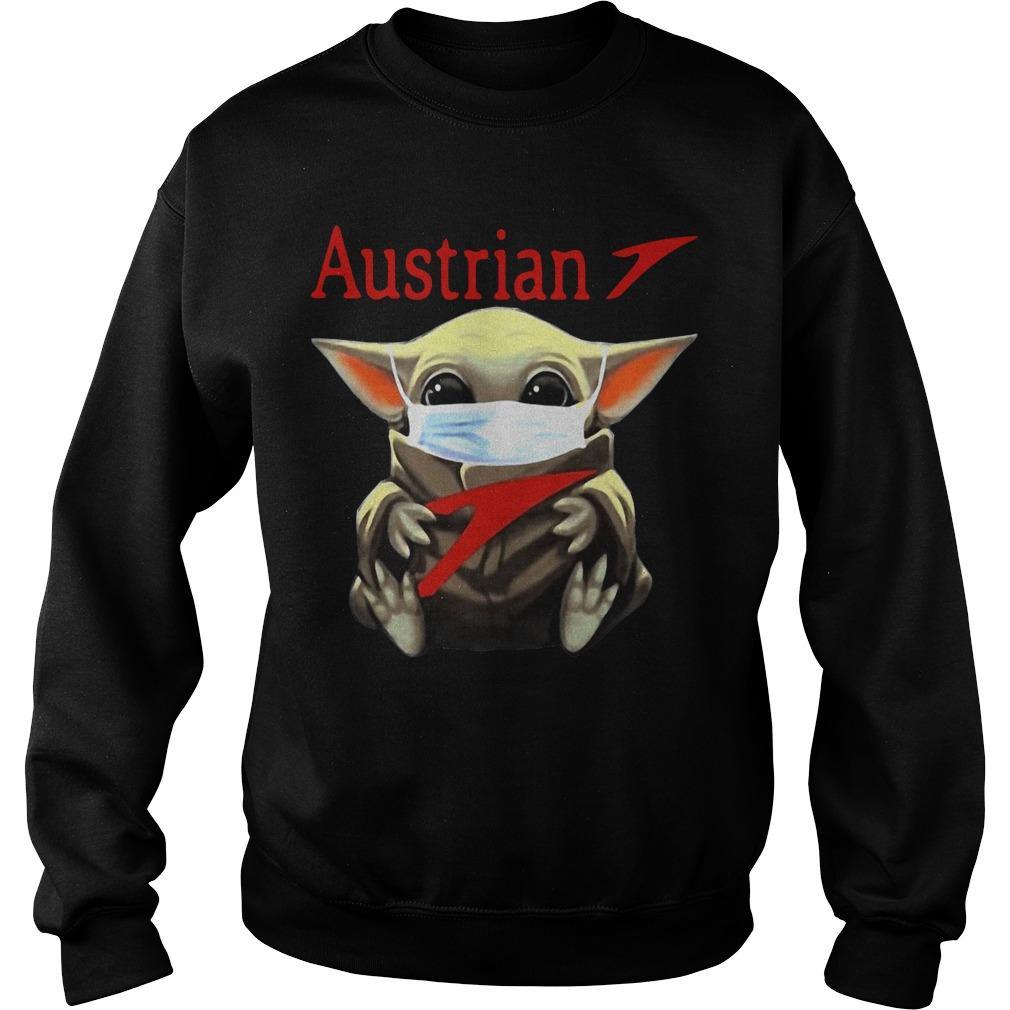 Baby Yoda Mask Hugging Austrian Sweater