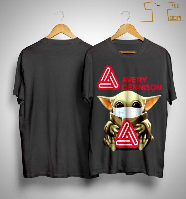 Baby Yoda Mask Hugging Avery Dennison Shirt