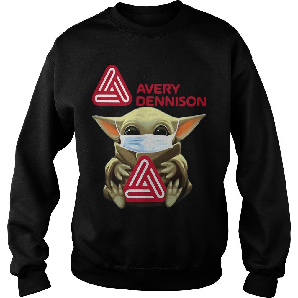 Baby Yoda Mask Hugging Avery Dennison Sweater