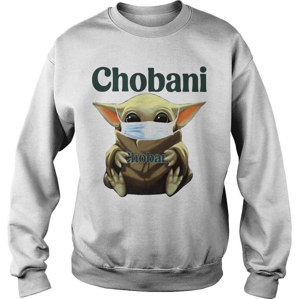 Baby Yoda Mask Hugging Chobani Sweater