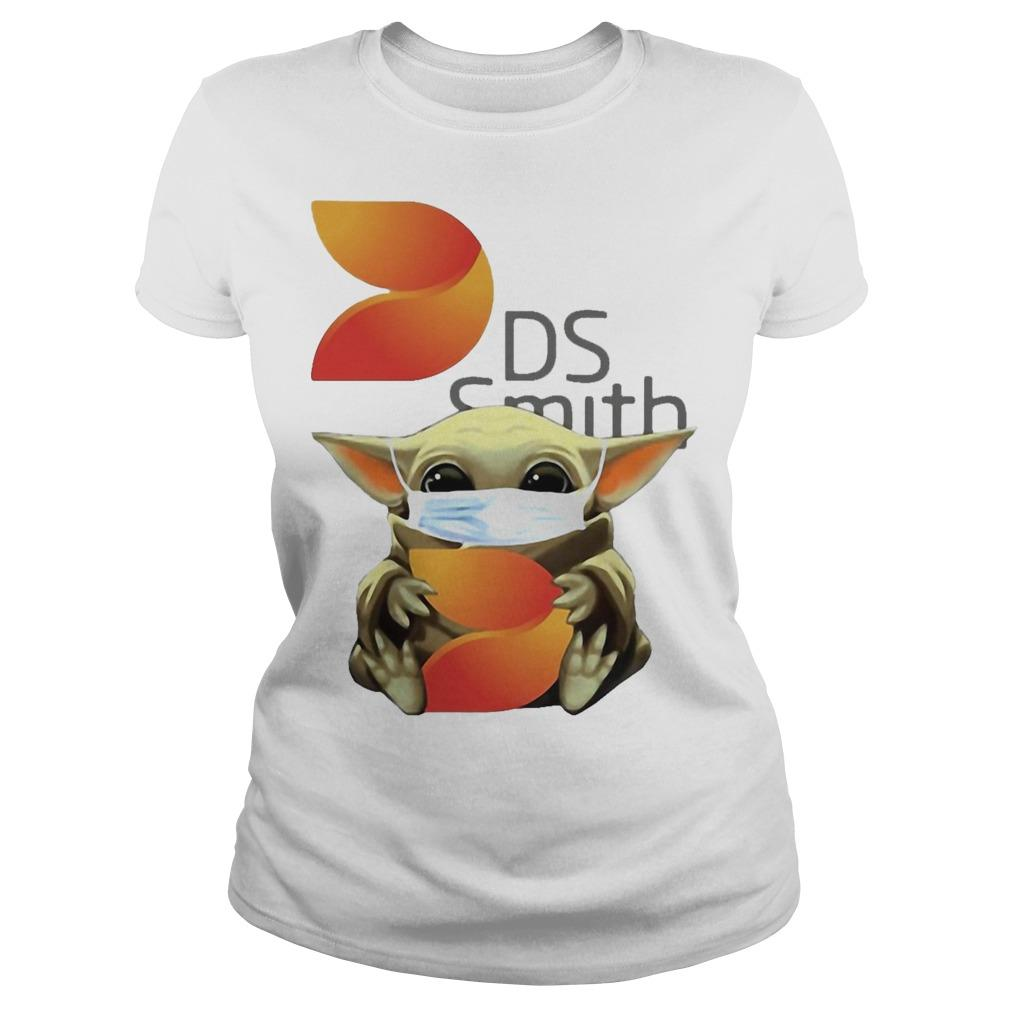 Baby Yoda Mask Hugging Ds Smith Longsleeve