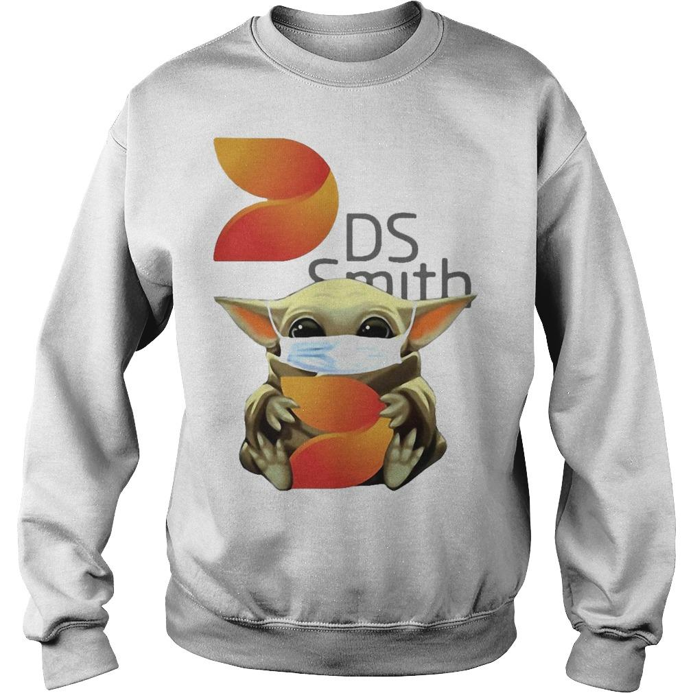 Baby Yoda Mask Hugging Ds Smith Sweater
