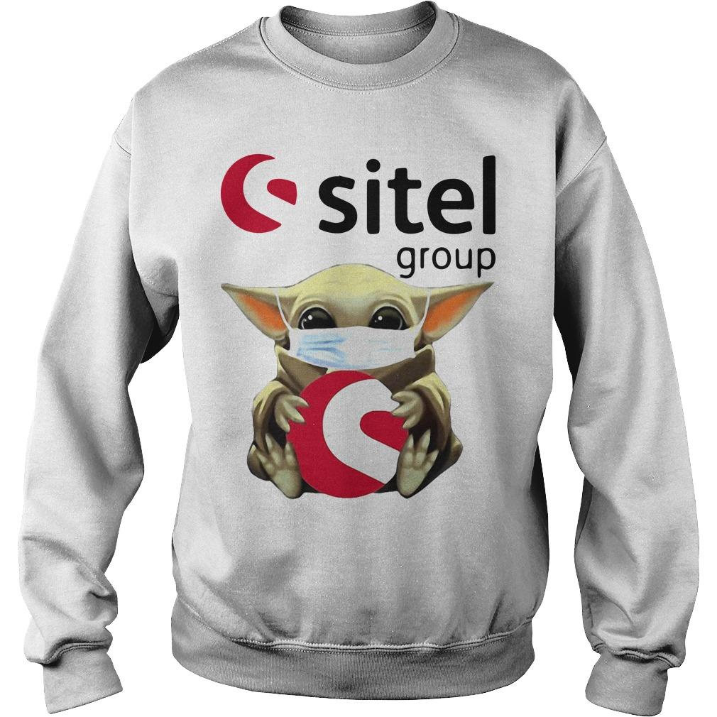 Baby Yoda Mask Hugging Sitel Group Sweater