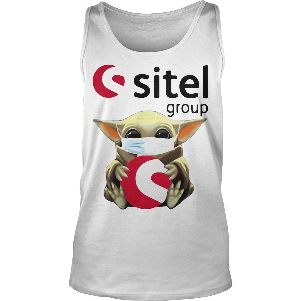 Baby Yoda Mask Hugging Sitel Group Tank Top