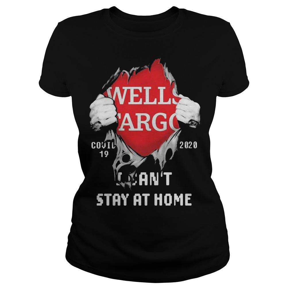 Blood Inside Me Wells Fargo Covid 19 2020 I Can't Stay At Home Longsleeve