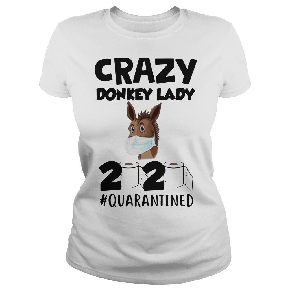 Crazy Donkey Lady 2020 Quarantined Longsleeve