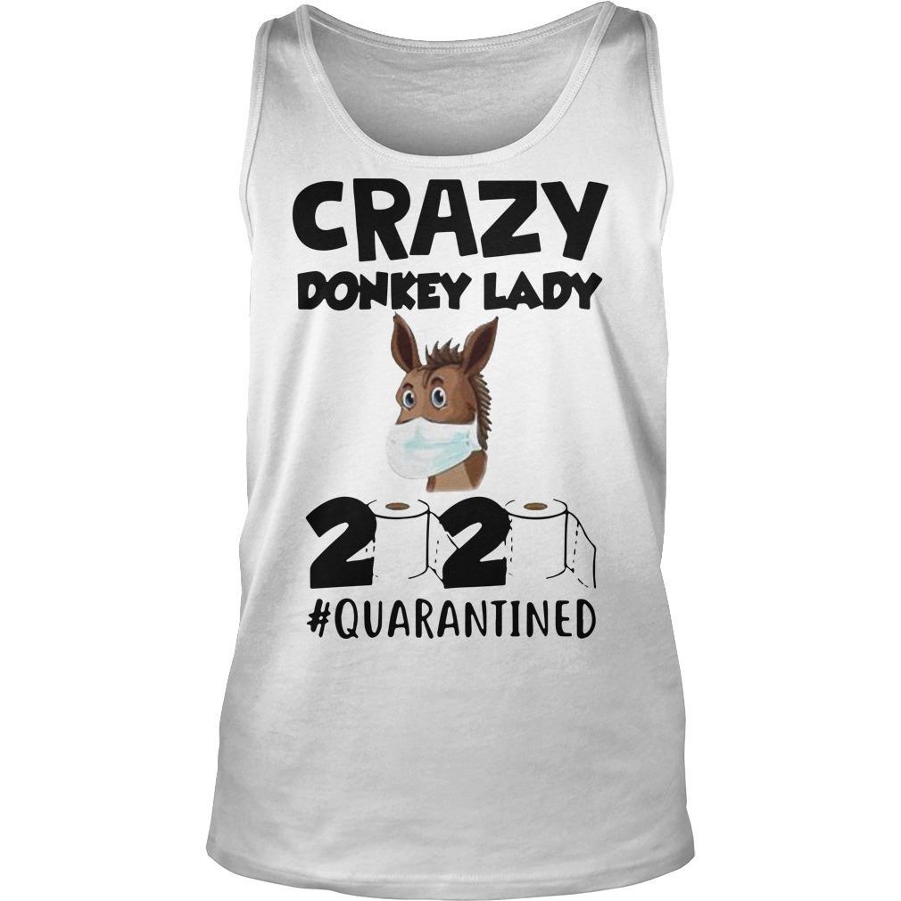Crazy Donkey Lady 2020 Quarantined Tank Top