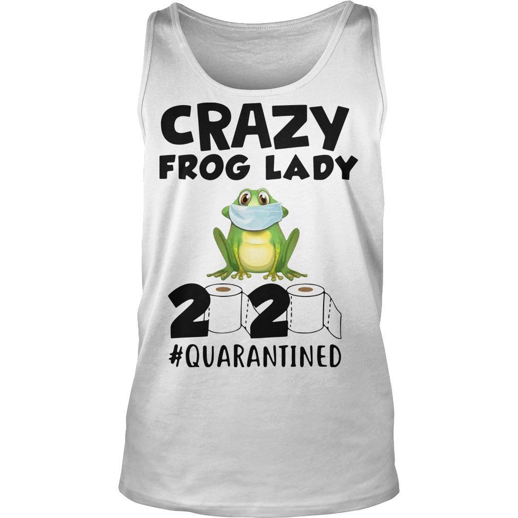Crazy Frog Lady 2020 Quarantined Tank Top