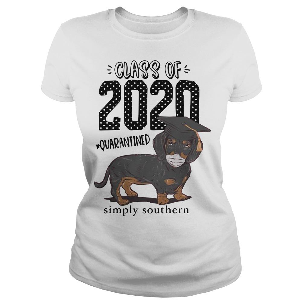 Dachshund Class Of 2020 Quarantined Simply Southern Longsleeve