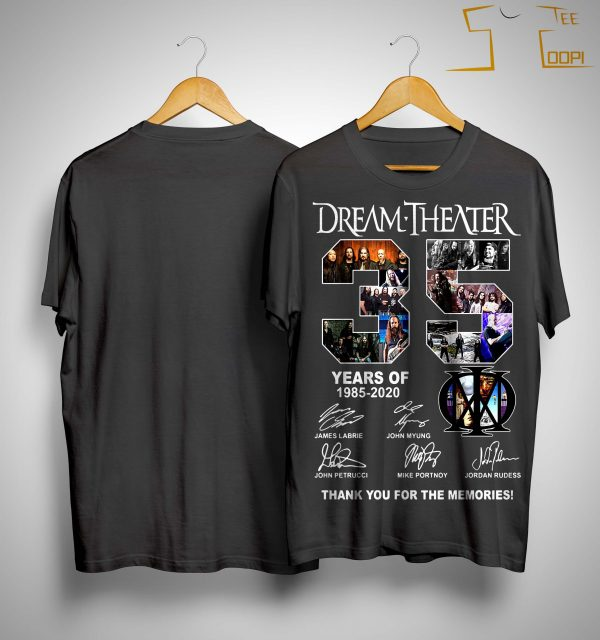 Dream Theater 35 Years Of 1985 2020 Thank You For The Memories Shirt