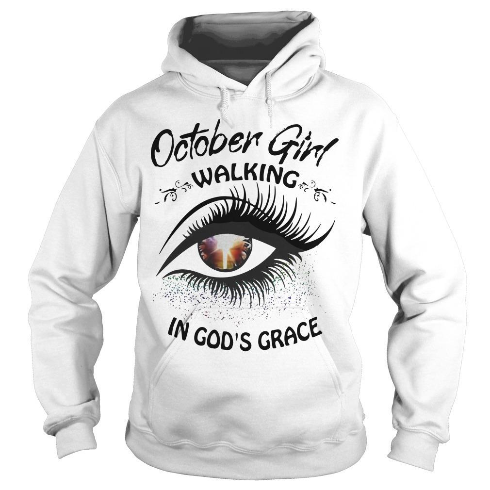 Eye October Girl Walking In God's Grace Hoodie