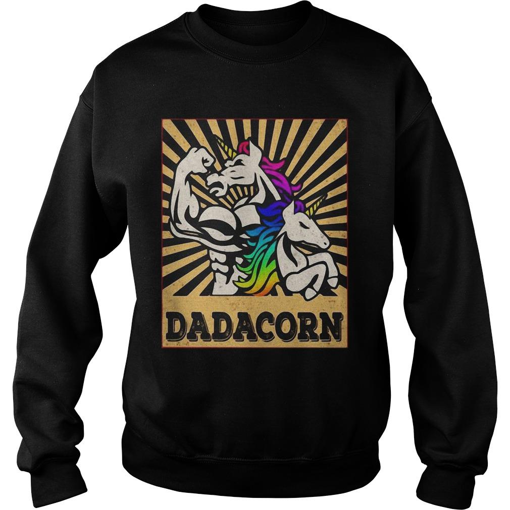 Fathers Day Dadicorn Daddycorn Unicorn Dad Baby Dadacorn Sweater