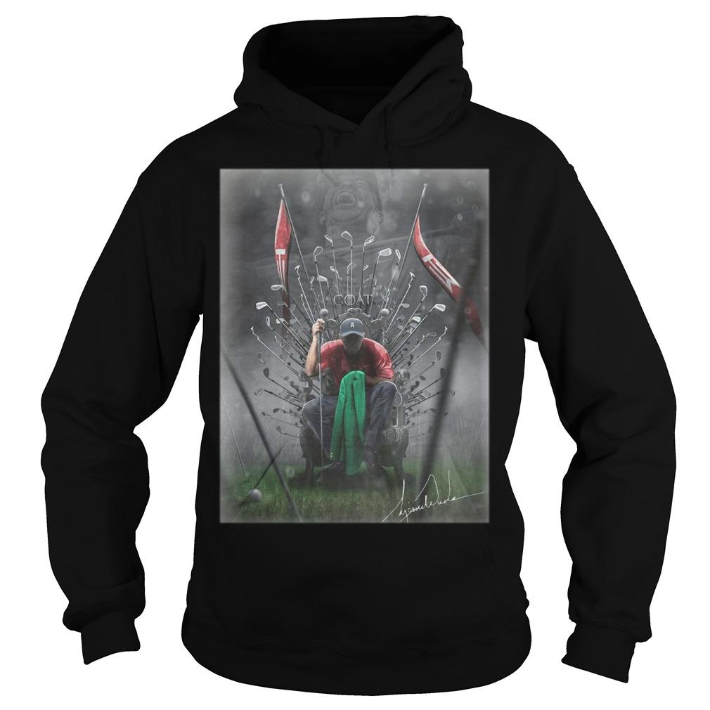 Game Of Thrones Iron Throne Tiger Woods GOAT Hoodie