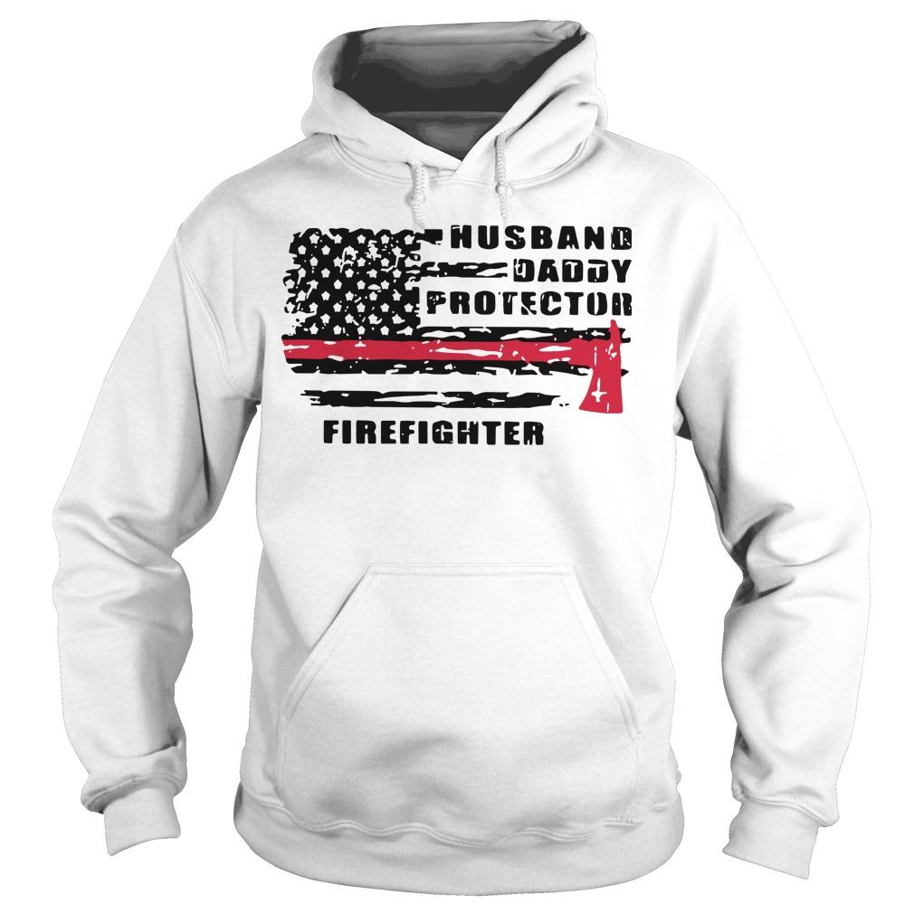 Husband Daddy Protector Firefighter Hoodie