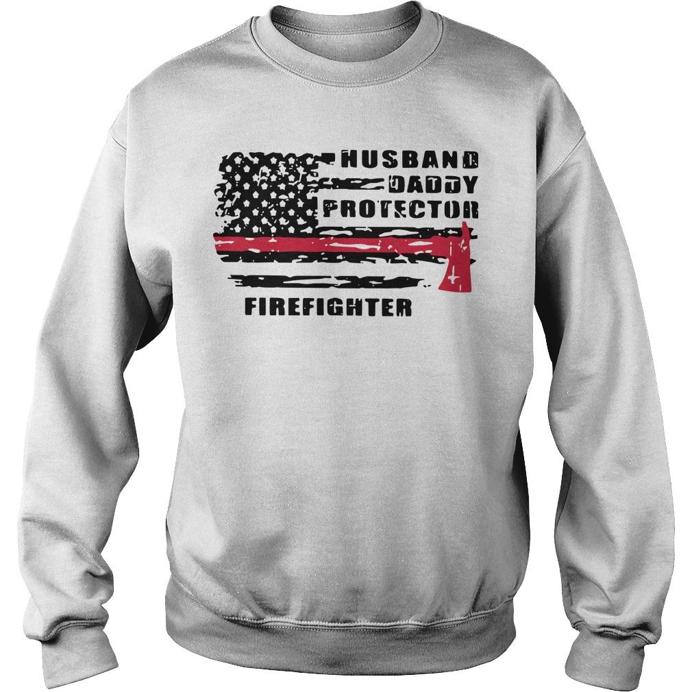 Husband Daddy Protector Firefighter Sweater