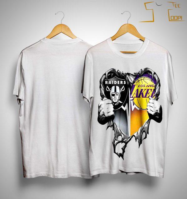 Inside Heart Raiders And Los Angeles Laker Shirt