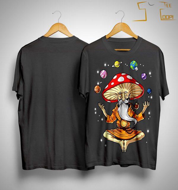 Meditation Magic Mushrooms Yoga Shirt