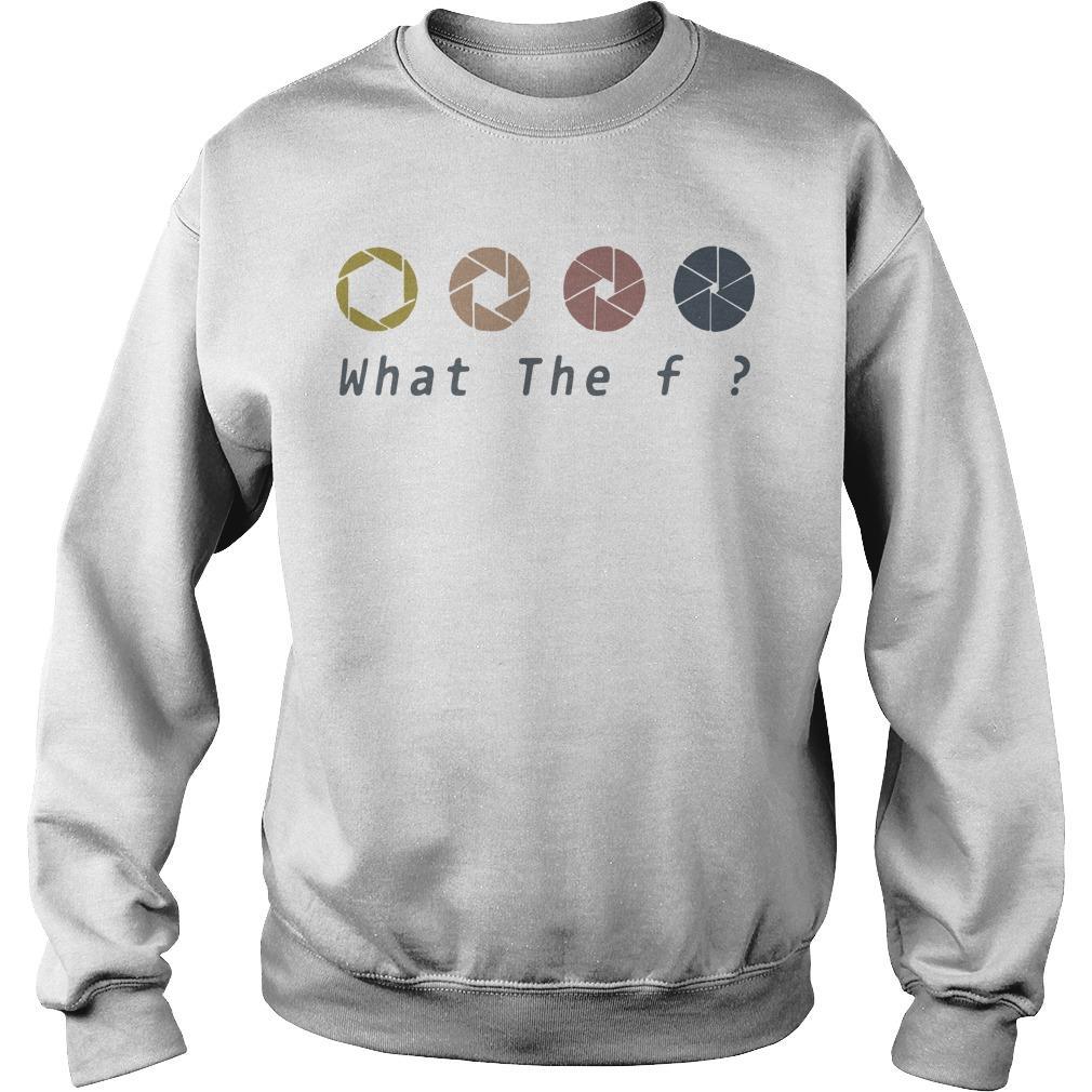 Retro What The Fuck Camera Sweater