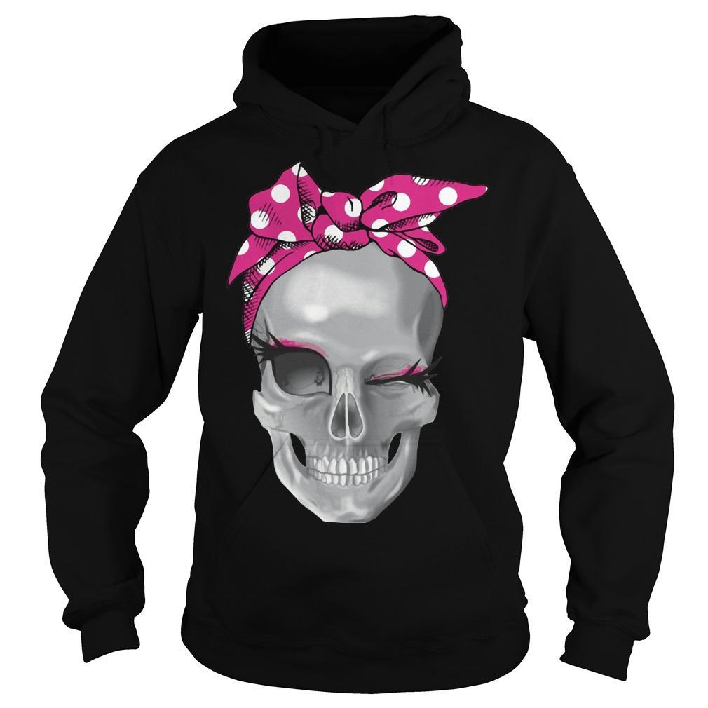Skull Pink Headband Hoodie