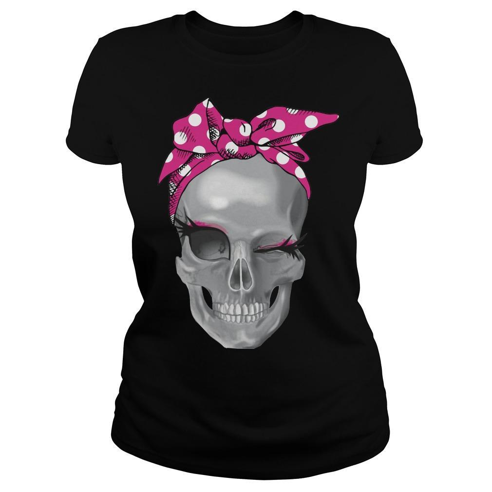 Skull Pink Headband Longsleeve