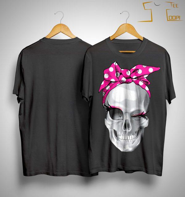 Skull Pink Headband Shirt