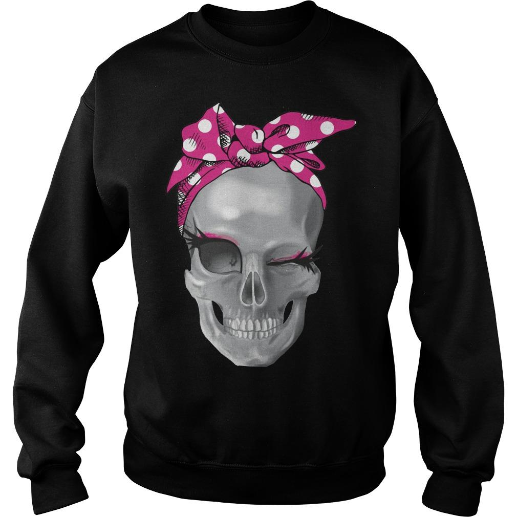 Skull Pink Headband Sweater