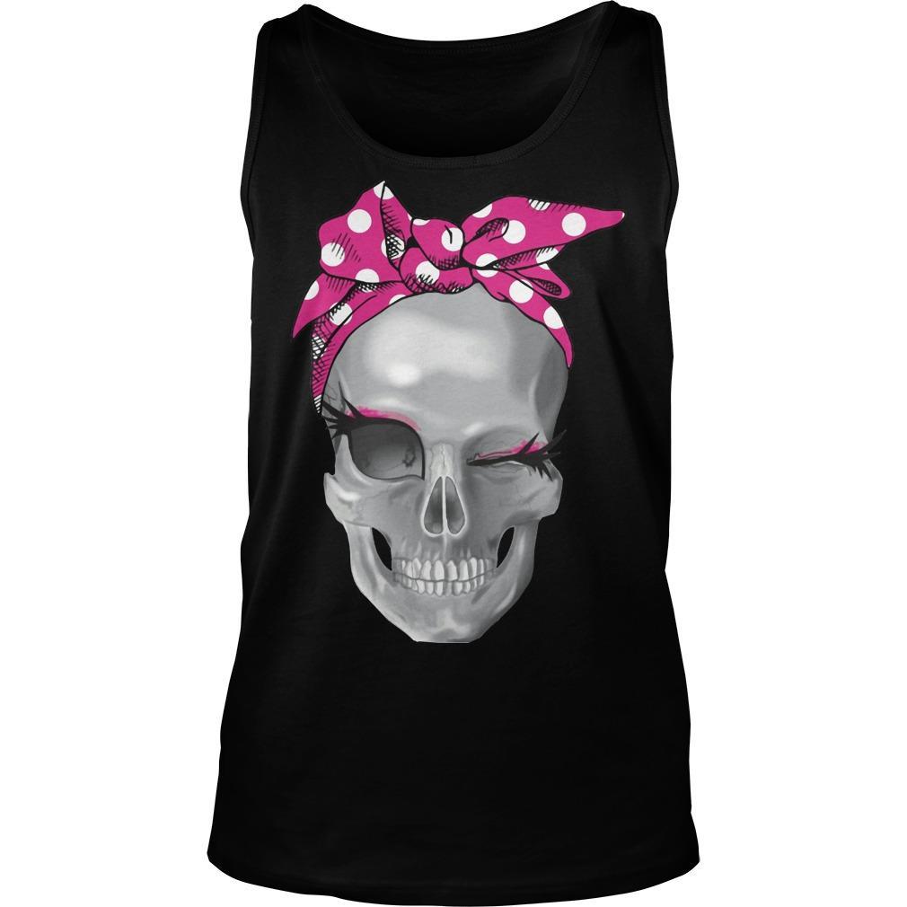 Skull Pink Headband Tank Top
