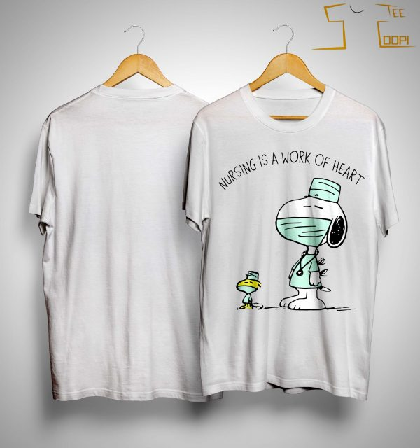 Snoopy And Woodstock Nursing Is A Work Of Heart Shirt