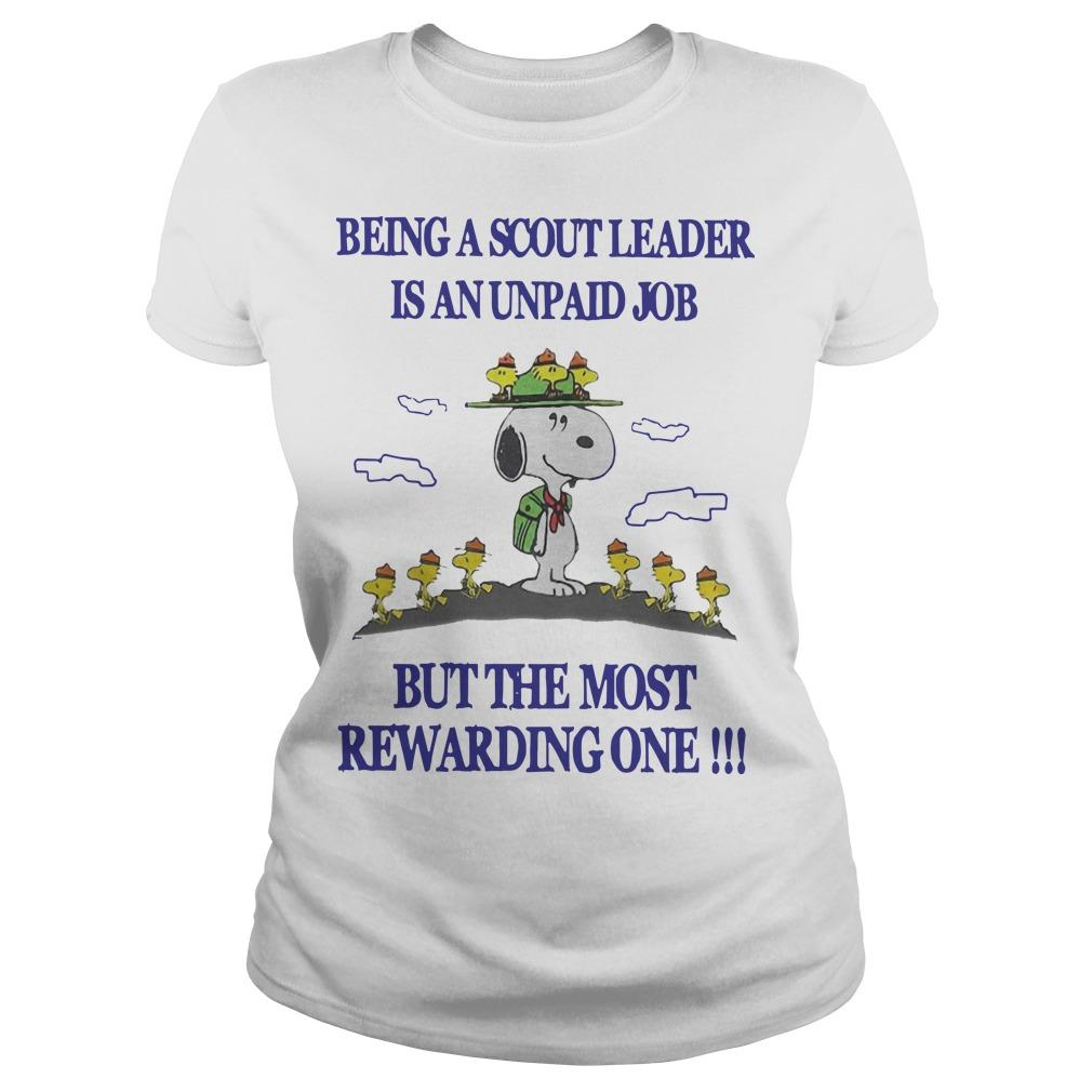 Snoopy Being A Scout Leader Is An Unpaid Job But The Most Rewarding One Longsleeve
