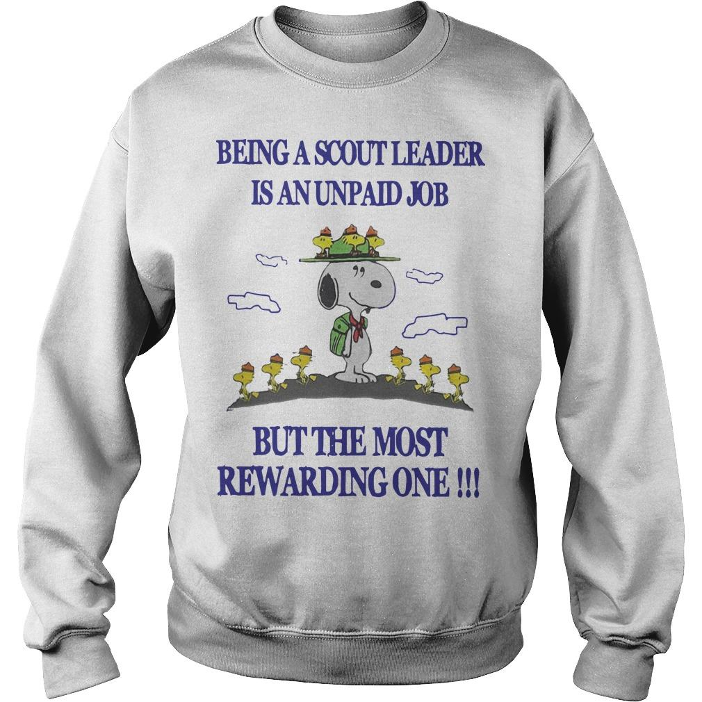 Snoopy Being A Scout Leader Is An Unpaid Job But The Most Rewarding One Sweater