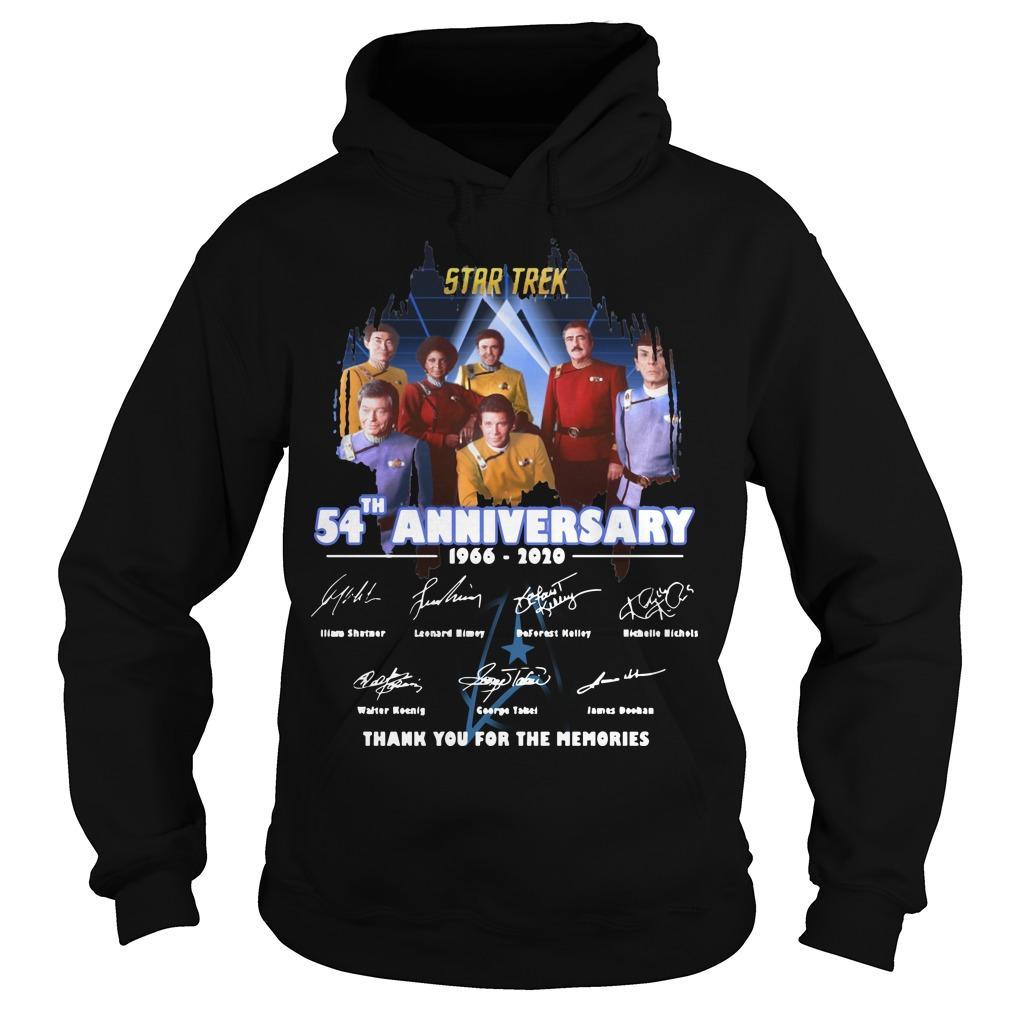 Star Trek 54th Anniversary 1966 2020 Thank You For The Memories Hoodie
