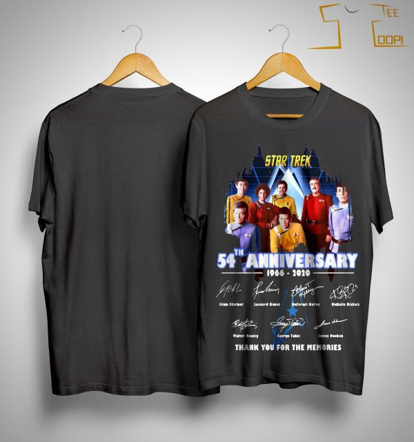 Star Trek 54th Anniversary 1966 2020 Thank You For The Memories Shirt
