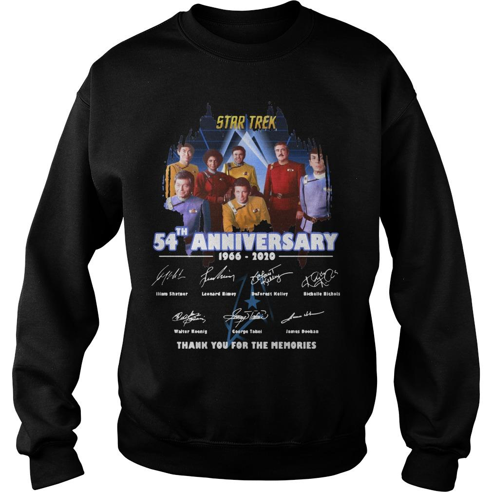 Star Trek 54th Anniversary 1966 2020 Thank You For The Memories Sweater