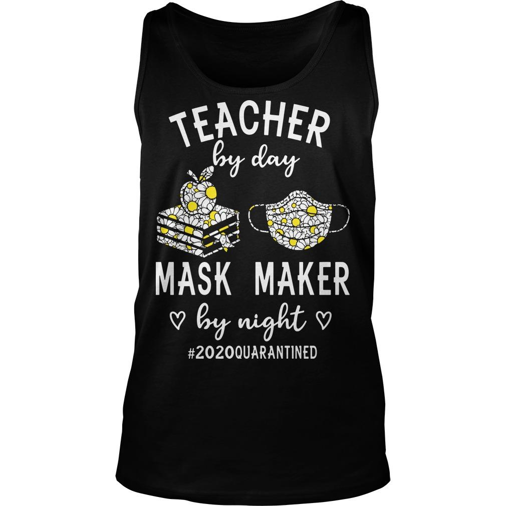 Teacher By Day Mask Maker By Night #2020quarantined Tank Top