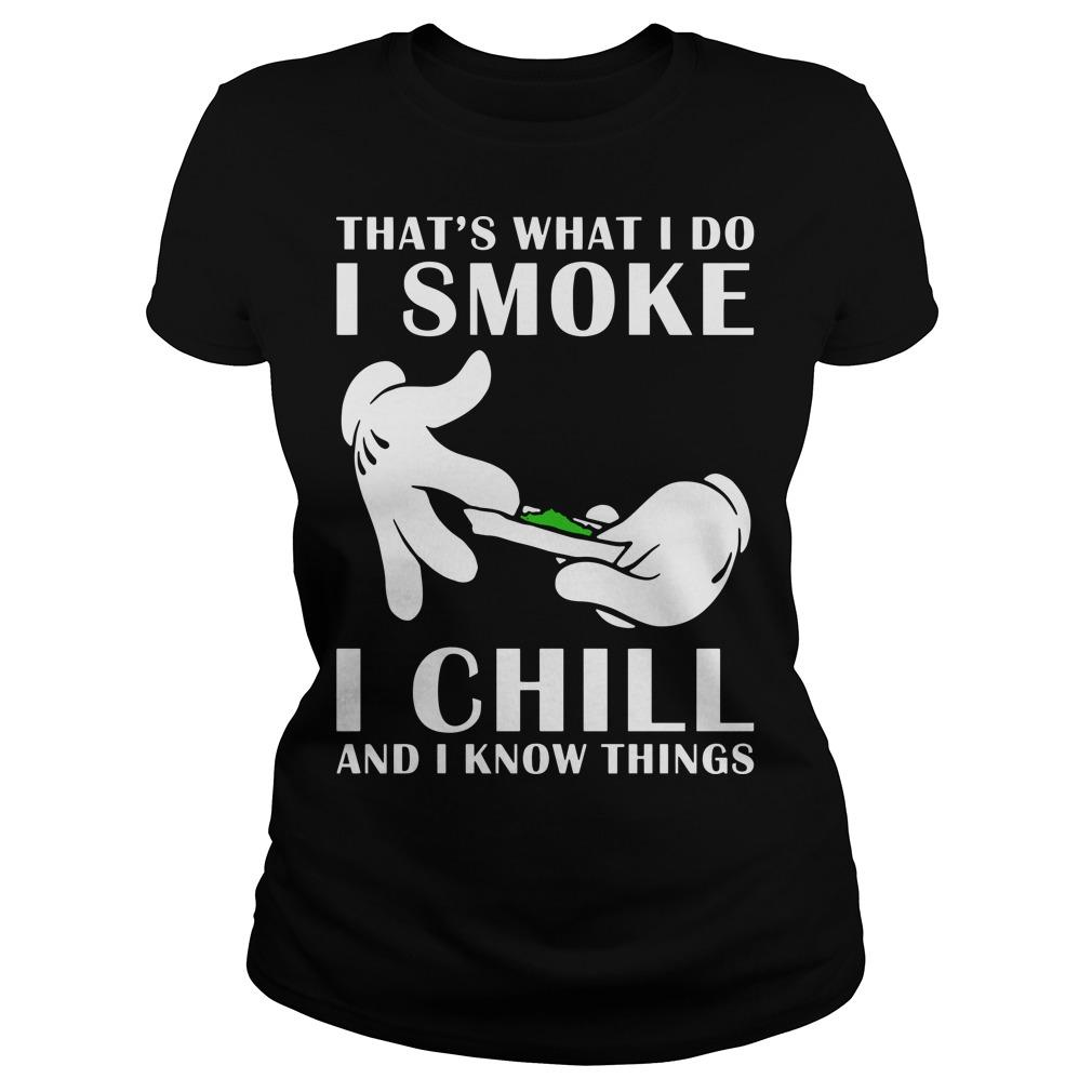 That's What I Do I Smoke I Chill And I Know Things Longsleeve