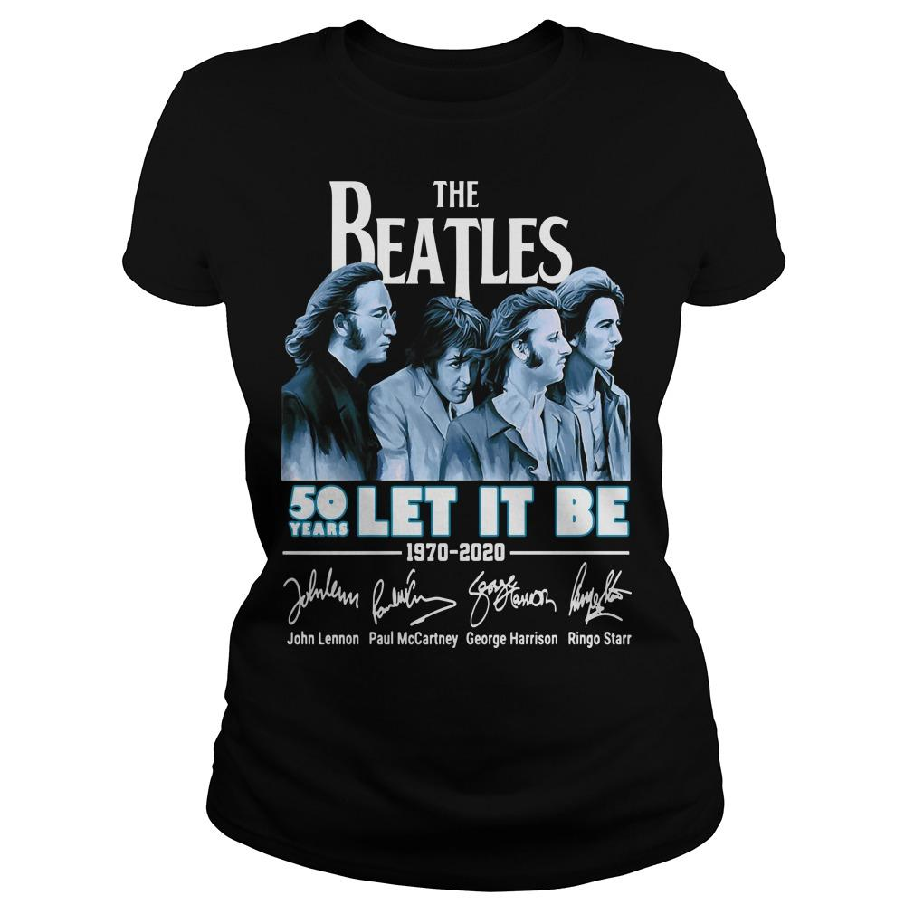 The Beatles 50 Years Let It Be 1970 2020 Signatures Longsleeve