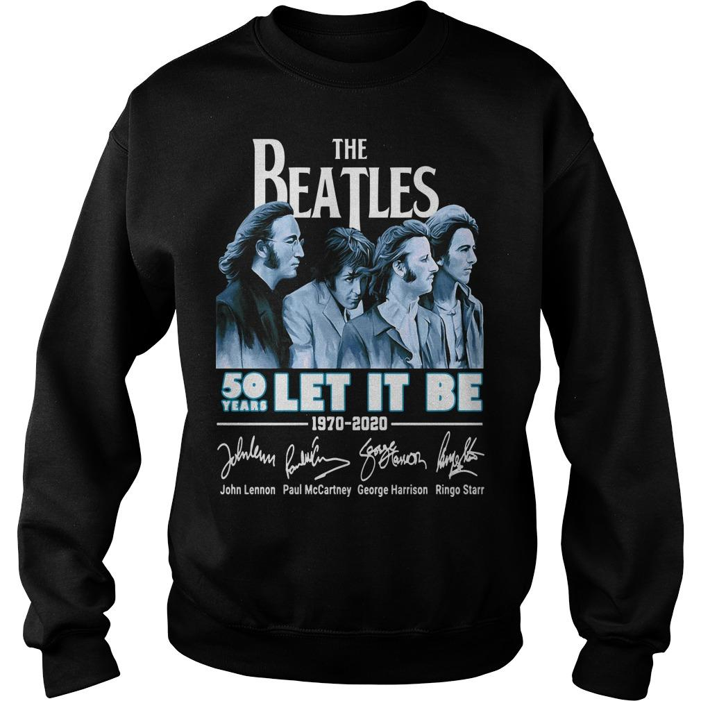 The Beatles 50 Years Let It Be 1970 2020 Signatures Sweater