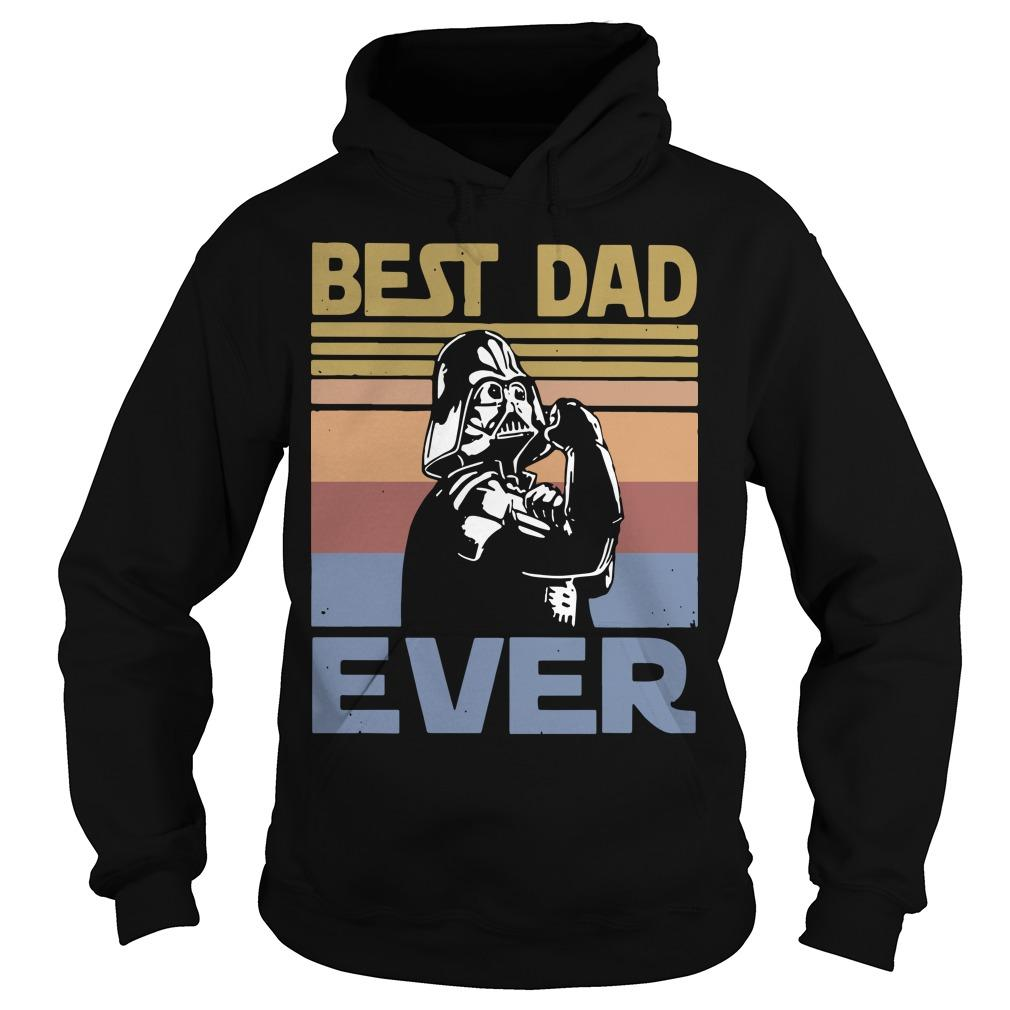 Vintage Darth Vader Best Dad Ever Hoodie