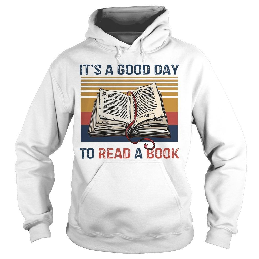Vintage It's A Good Day To Read A Book Hoodie