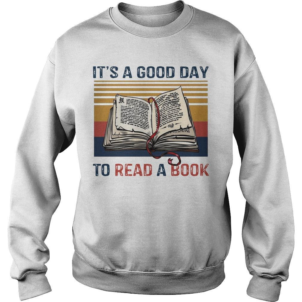 Vintage It's A Good Day To Read A Book Sweater