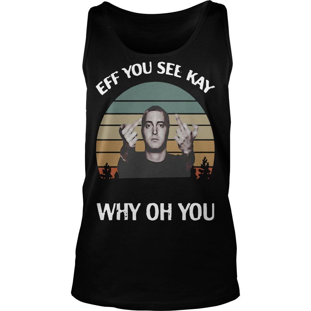 Vintage Michael Wilfling Eff You See Kay Why Oh You Tank Top