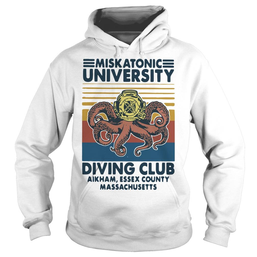 Vintage Miskatonic University Diving Club Aikham Essex County Hoodie