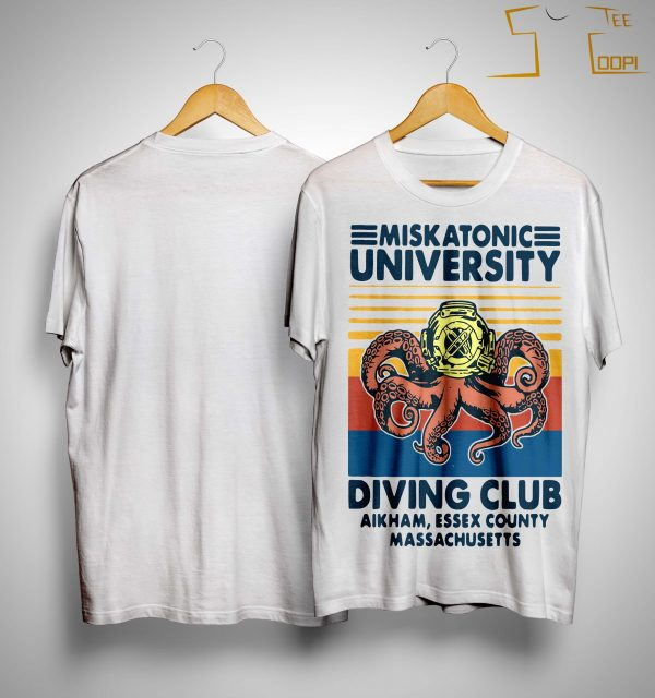 Vintage Miskatonic University Diving Club Aikham Essex County Shirt